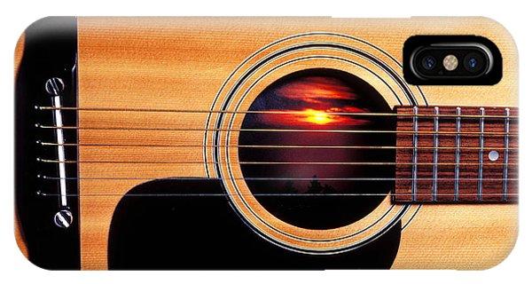 Sunset In Guitar IPhone Case