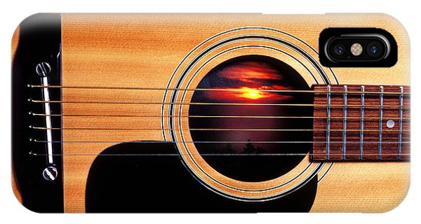 Sunset In Guitar IPhone Case
