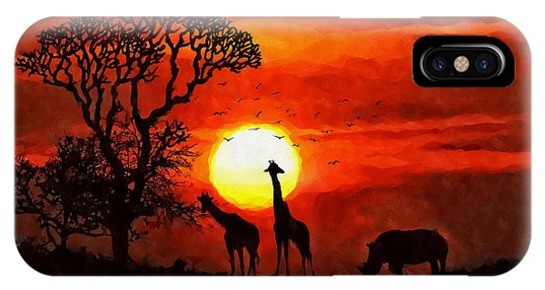 Sunset In Savannah IPhone Case