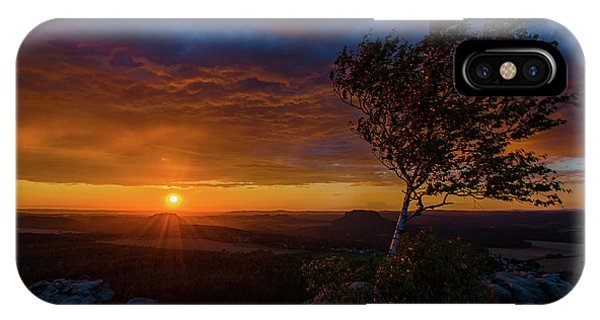 Sunset In Saxonian Switzerland IPhone Case