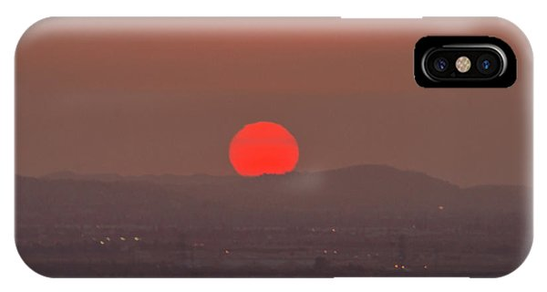 Sunset In Smog IPhone Case