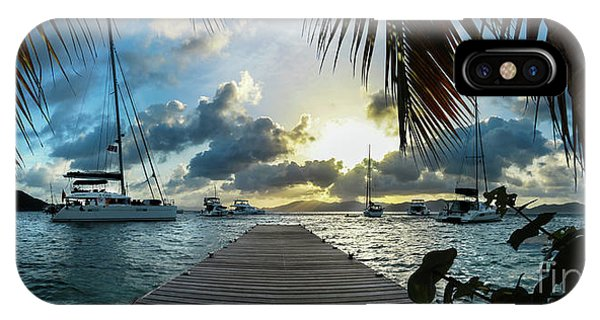 Catamaran iPhone Case - Sunset In The Bvi by Jon Neidert
