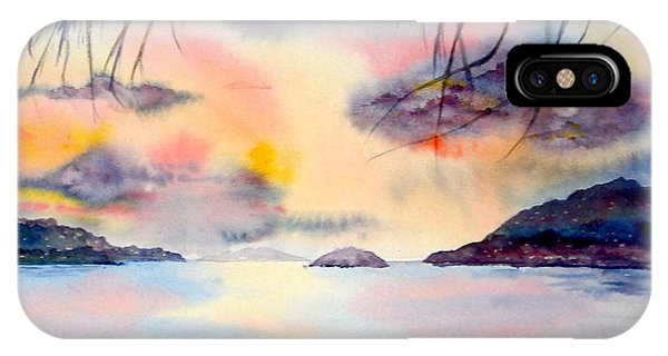 Sunset In The Caribbean IPhone Case