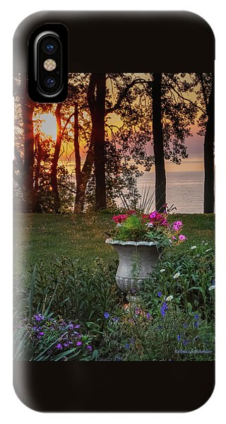 Sunset In The Flowers IPhone Case