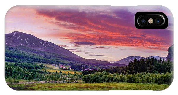 Sunset In The Meadow IPhone Case