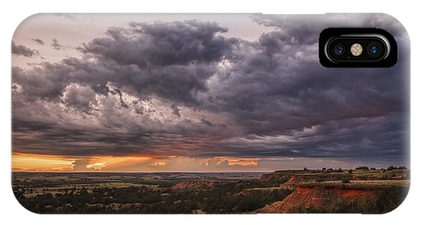 Sunset In The Red Hills IPhone Case