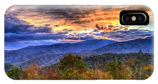 Sunset In The Smokies IPhone Case