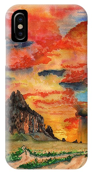 Sunset In The West IPhone Case