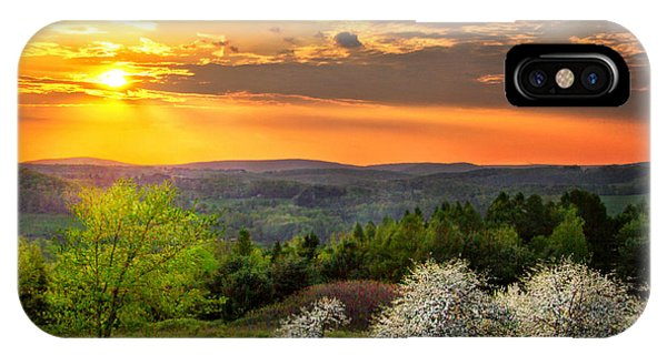 Sunset In Tioga County Pa IPhone Case