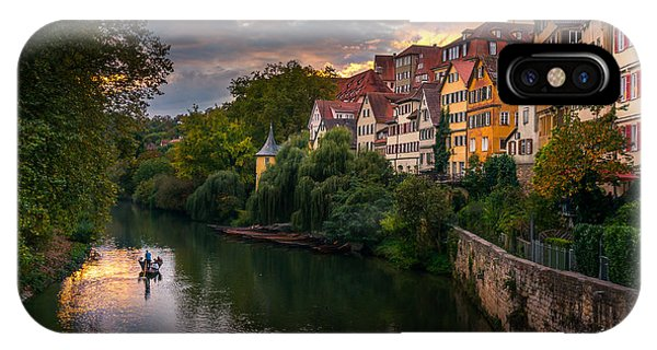 City Sunset iPhone Case - Sunset In Tubingen by Dmytro Korol