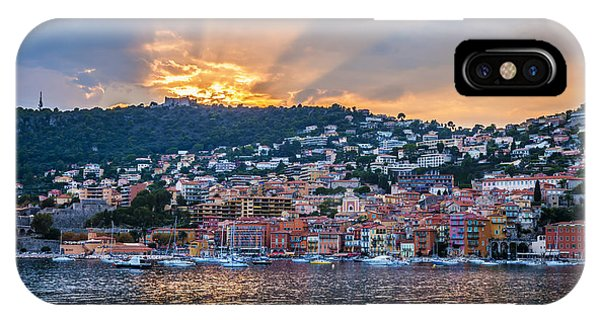 French Riviera iPhone Case - Sunset In Villefranche-sur-mer by Elena Elisseeva