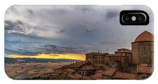 Sunset In Volterra IPhone Case