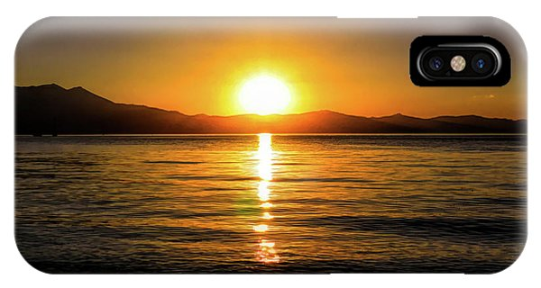 Sunset Lake 1 IPhone Case