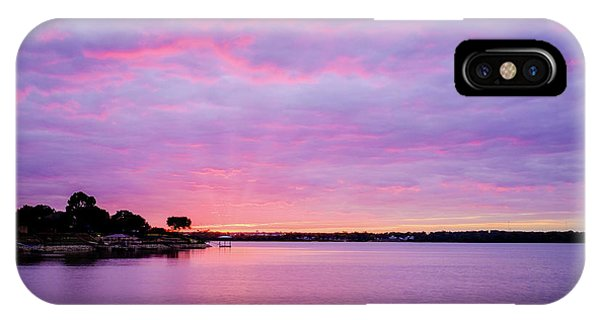Sunset Lake Arlington Texas IPhone Case