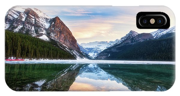 Sunset Lake Louise IPhone Case