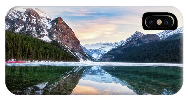 Sunset Lake Louise IPhone Case