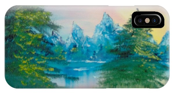 IPhone Case featuring the painting Sunset Lake by Saundra Johnson