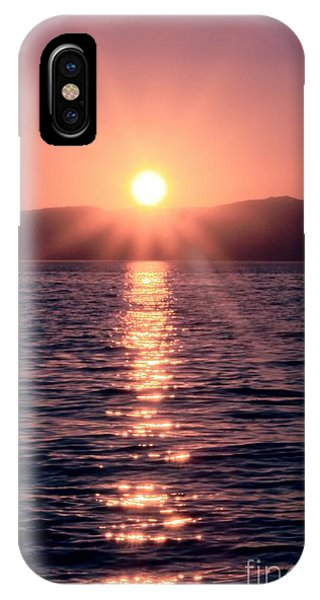 Sunset Lake Verticle IPhone Case