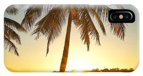 IPhone Case featuring the photograph Sunset Lovers Under Palm Tree And Down By The River by Keiran Lusk