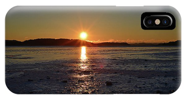 IPhone Case featuring the pyrography Sunset by Magnus Haellquist