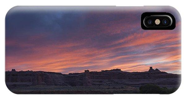 Sunset Near Court House Wash IPhone Case