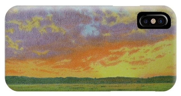 Sunset Near Miles City IPhone Case