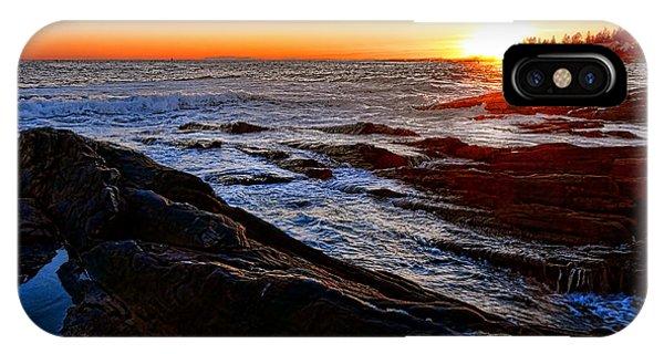 Sunset Off Pemaquid Point IPhone Case
