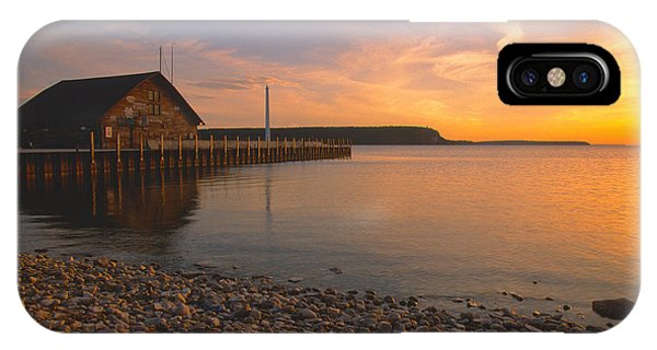Sunset On Anderson's Dock - Door County IPhone Case