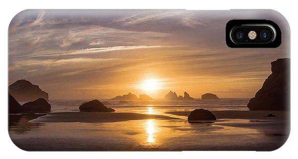 Sunset On Bandon Beach IPhone Case