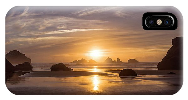Sunset On Bandon Beach IPhone Case