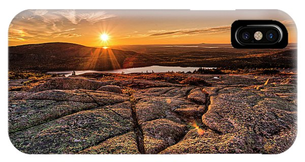 Sunset On Cadillac Mountain IPhone Case