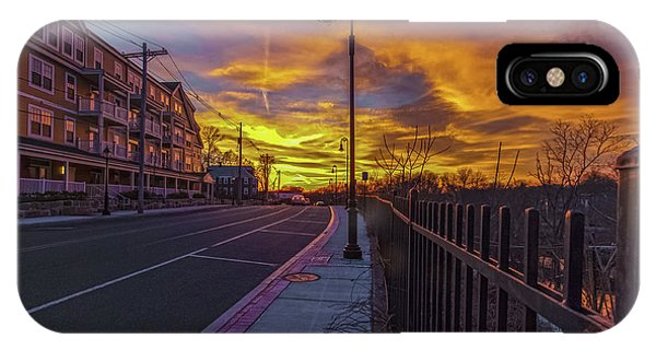 Sunset On Eliot St Milton Ma IPhone Case