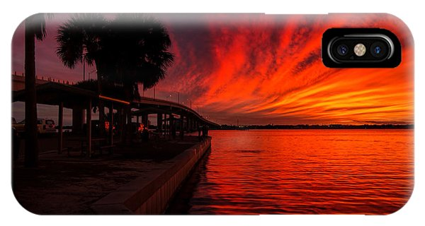 Sunset On Fire IPhone Case