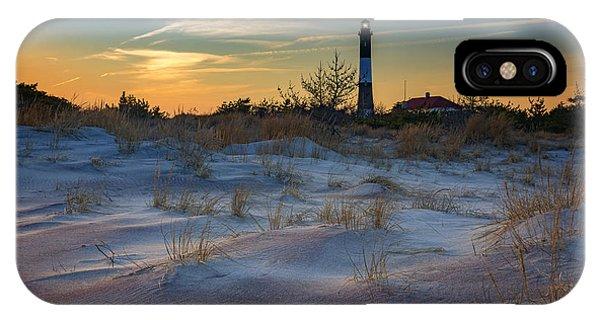 Navigation iPhone Case - Sunset On Fire Island by Rick Berk