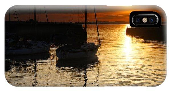 Sunset On Fisherrow Phone Case by Nik Watt