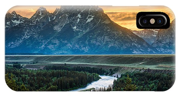 Sunset On Grand Teton And Snake River IPhone Case