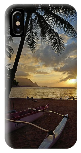 iPhone Case - Sunset On Hanalei by Kathy Yates