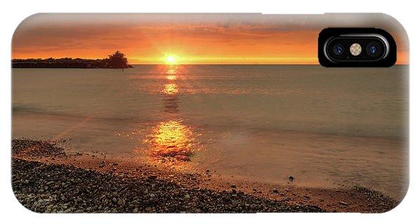 Sunset On Huron Lake IPhone Case