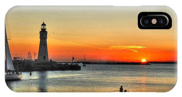 Sunset On Lake Erie IPhone Case