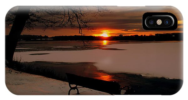Sunset On Lake Quanapowitt IPhone Case