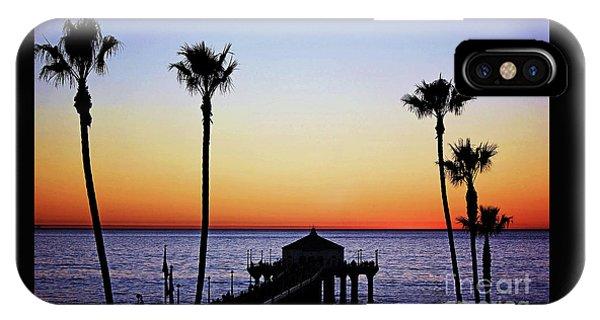 Sunset On Manhattan Beach Pier IPhone Case