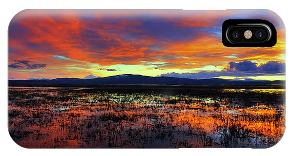 Sunset On  Marshes  IPhone Case