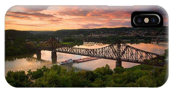 Sunset On Ohio River  IPhone Case