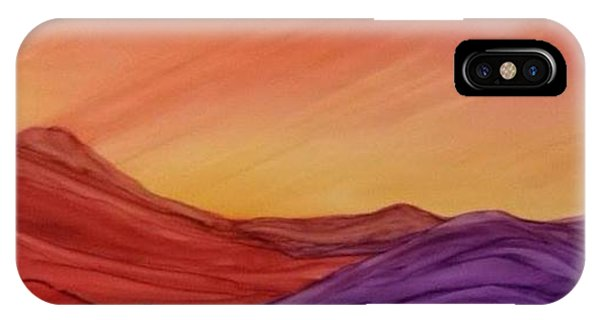 Sunset On Red And Purple Hills IPhone Case