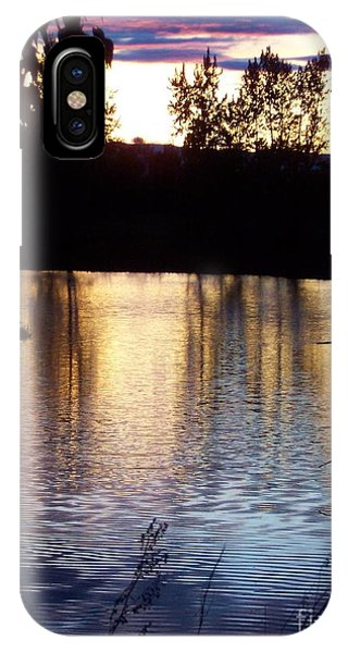 IPhone Case featuring the photograph Sunset On River by Deahn      Benware