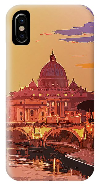 Sunset On Rome The Eternal City IPhone Case