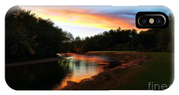 Sunset On Saco River IPhone Case