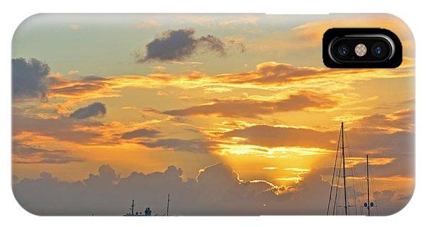 Sunset On Simpon Bay Saint Martin Caribbean IPhone Case