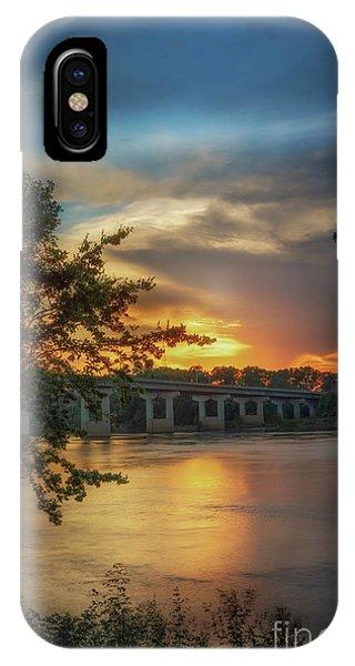 Sunset On The Arkansas IPhone Case