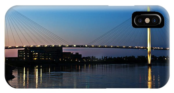 Sunset On The Bob Kerry Pedestrian Bridge IPhone Case